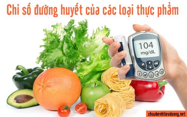 chỉ số đường huyết của các loại thực phẩm