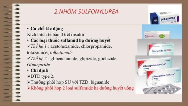 Nhóm thuốc sulphonylurea chữa bệnh tiểu đường