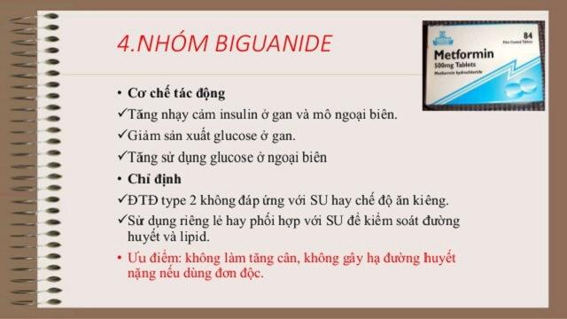 Nhóm thuốc Biguanide chữa bệnh tiểu đường